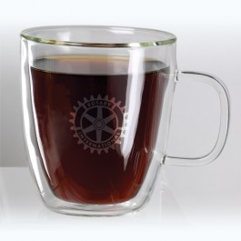 Clear 13 oz Binara Double Wall Mug
