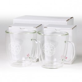 Clear 13 oz Binara 2 Piece Mug Gift Set