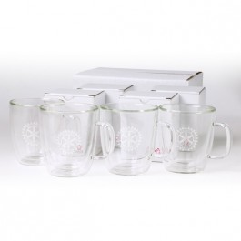 Clear 13 oz Binara 4 Piece Mug Gift Set