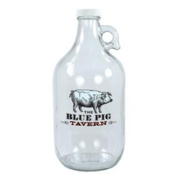 Clear 64 oz Clear Glass Beer Growler