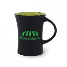 Black / Rye Green 10 oz Hilo Two Tone Ceramic Coffee Mug