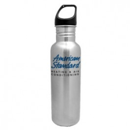 Brushed Stainless / Black 26oz Excursion Stainless Steel Water Bottle