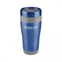Indigo Blue / Gray 16 oz Stainless Steel Travel Tumbler