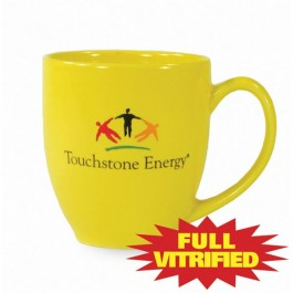 Lemon Yellow 14 1/2 oz Vitrified Restaurant Ceramic Coffee Mug