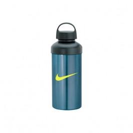Light Blue / Black 20 oz. Aluminum Screw Cap Water Bottle