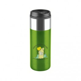 Lime Green 16 oz Chrome Top Slim Travel Tumbler