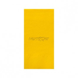 Sunshine Yellow Embossed 3 Ply Colored Guest Towel