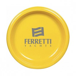 "Sunshine Yellow 10.25"" Round Plastic Plate"