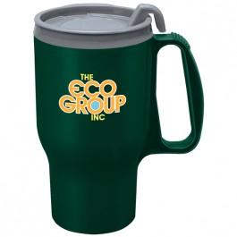 Dark Green 15 oz. Earth Friendly Traveler Mug