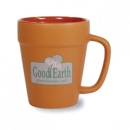 Terra Cotta 14 oz Terra Cotta Flower Pot Mug