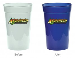 Light Green / Blue 17 oz. Sun Color Changing Stadium Cup (Full Color)