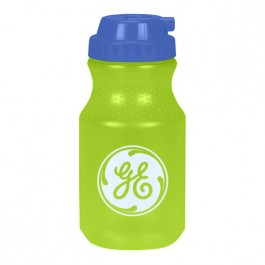 Neon Green / Blue 20 oz. Squeeze Water Bottle