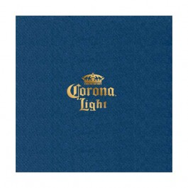 Skipper Blue Foil Stamped Linun Luncheon Napkin