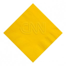 Sunshine Yellow Embossed 3 Ply Colored Beverage Napkin