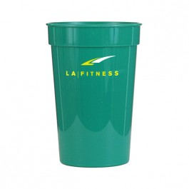 Green 17 oz Smooth Stadium Cup