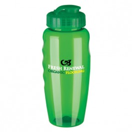 Green 30 oz. Gripper Poly-Clear(TM) Bottle