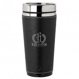 Black / Silver 16 oz. World Sleeve Tumbler