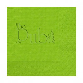 Lime Embossed Moire Beverage Napkin