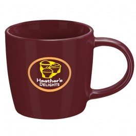 Merlot 13 oz. Ceramic Metro Coffee Mug