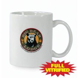 White 10 1/2 oz White Vitrified Restaurant Ceramic Coffee Mug