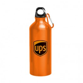 Orange 22 oz Aluminum Sports Bottle