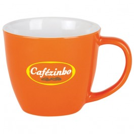 Orange 11 oz. Ceramic Festival Coffee Mug