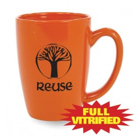 Orange 14 1/2 oz Red or Orange Vitrified Restaurant Ceramic Coffee Mug