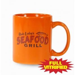 Orange 10 1/2 oz Orange or Red Vitrified Restaurant Ceramic Coffee Mug