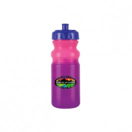 Pink / Purple / Blue 20 oz Color Changing Cycle Bottle (Full Color)