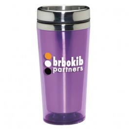 Purple 16 oz. Colored Acrylic Travel Tumbler