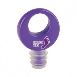Purple Round Wine Stopper