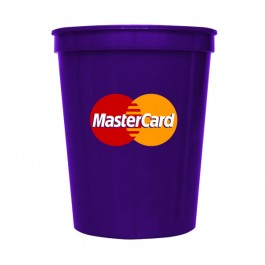 Purple 16 oz Stadium Cup