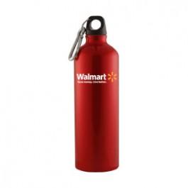 Red / Black 25 oz Sport Flask Aluminum Water Bottle