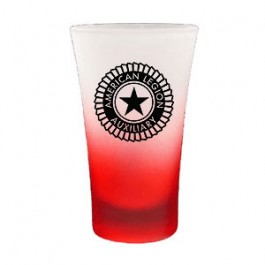 Red / Clear 2-Tone Frosted Glass Flair Cordial