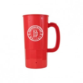 Red 22 oz Beer Stein