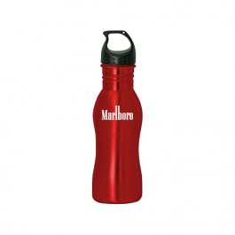 Red 18 oz Contour Stainless Steel Drinking Bottle