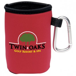Red Collapsible KOOZIE(R) Can Kooler with Carabiner
