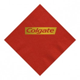 Red Foil Stamped 3 Ply Colored Dinner Napkin