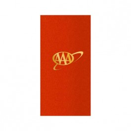 Red Foil Stamped Linun Guest Towel