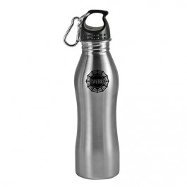 Silver / Black 25 oz Contour Stainless Steel Sports Bottle