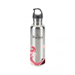 Silver / Pink 25 oz. Stainless Wave Water Bottle