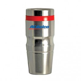 Silver / Red 16 oz Highlight Stainless Steel Tumbler