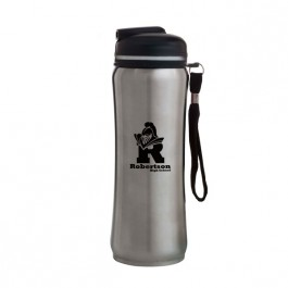Silver 23 oz. Stainless Steel Contemporary Sport Bottle