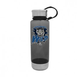 Smoke / White 24 oz Venture Water Bottle with Stainless Lid & Base - FCP