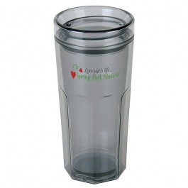 Smoke 16 oz. Retro Travel Tumbler
