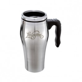 Stainless / Black 16 oz. Engraved Stainless Steel Esprit Travel Mug
