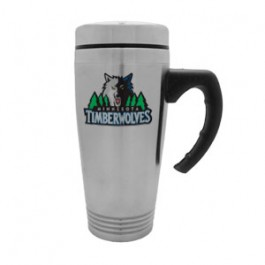 Stainless / Black 16oz Stainless Ring Bottom Sport Driver Travel Mug –FCP