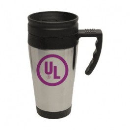Stainless / Black 15oz Sport Driver Travel Mug