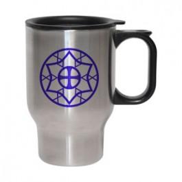 Stainless / Black 16oz Stainless Steel Bullet Travel Mug