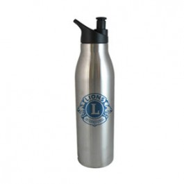 Stainless / Black 20oz Double Wall Stainless Steel Water Bottle